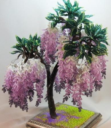 Плетение бисером для дерева